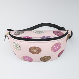 Artsy Pink Sprinkle Donuts Watercolor Pattern Fanny Pack