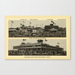 Coney Island - Chamberlain's Camera Obscura, Sea Side Aquarium  Canvas Print