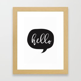 Hello, is it me you're looking for ? Framed Art Print