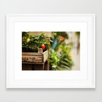 strawberry Framed Art Prints featuring Strawberry by Nina's clicks