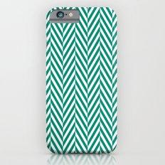 Teal Herringbone Slim Case iPhone 6s