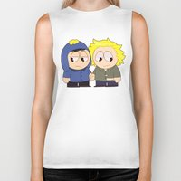 yaoi Biker Tanks featuring Craig X Tweek by FrankenPup