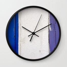 Blue White Blue Wall Clock