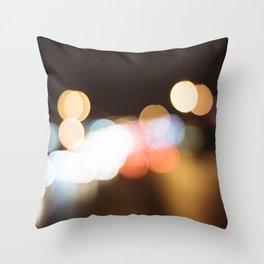 Street Light Bokeh Throw Pillow