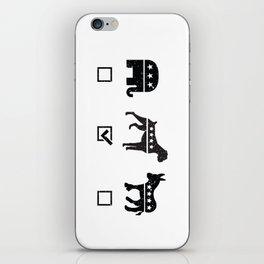 VOTE BOXER iPhone Skin