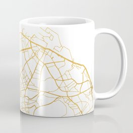 EDINBURGH SCOTLAND CITY STREET MAP ART Coffee Mug