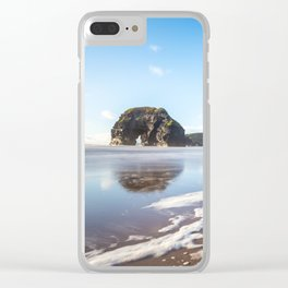 Nun's Beach Reflections Clear iPhone Case