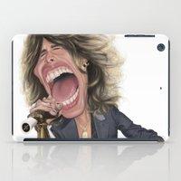 tyler durden iPad Cases featuring Steven Tyler by Sant Toscanni