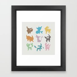Eeveelution Framed Art Print