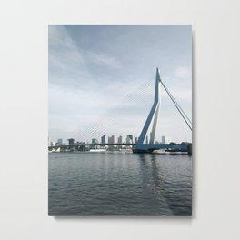 Erasmunbrug bridge Metal Print