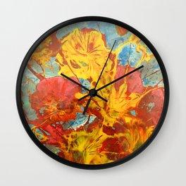 Bright Blossoms Wall Clock