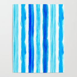 Laird Blue Stripes Poster