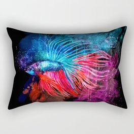 Fighter Fish 11 Rectangular Pillow