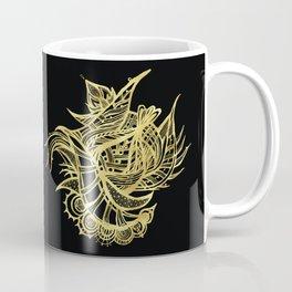 GOLDEN BEAUTY - GOLD ON BLACK Coffee Mug