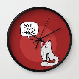 Glam cat (Spanish) Wall Clock