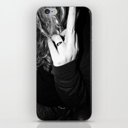 Peace up, Index down iPhone Skin