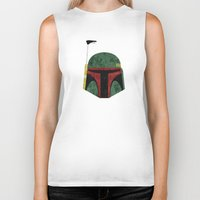 boba Biker Tanks featuring Boba Fett by Some_Designs