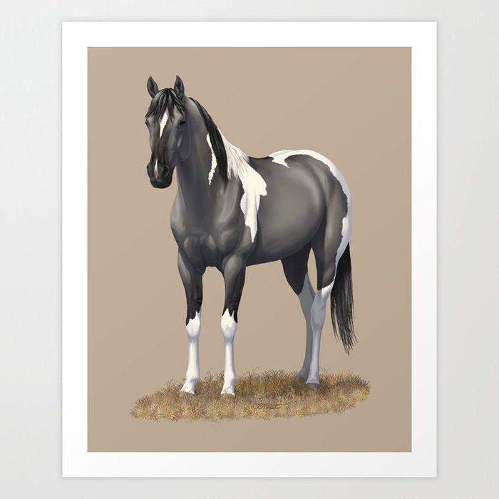 Race Horse Ii Painting Ruane Manning Art Print