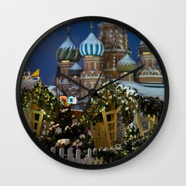 Moscow in Christmas, Russia Wall Clock
