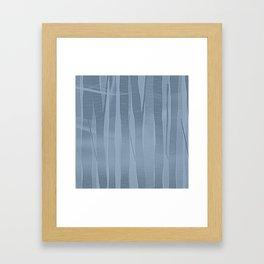 Woodland -  Minimal Blue Birch Forest Framed Art Print