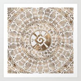 Hunab Ku Pastel gold #2 Art Print