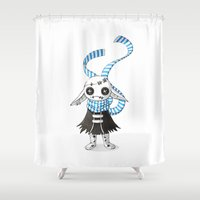 doll Shower Curtains featuring Rag Doll by Freeminds