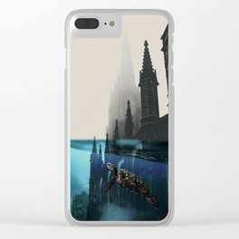 City under water Clear iPhone Case