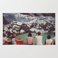 beth hoeckel Area & Throw Rugs featuring GLACIAL by Beth Hoeckel