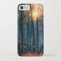 sun iPhone & iPod Cases featuring Red feather dance  (colour option) by Viviana Gonzalez