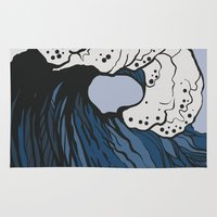 anxiety Area & Throw Rugs featuring Anxiety by Ksenia Palfy