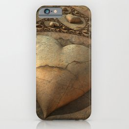 It's Complicated Broken Stone Heart iPhone Case