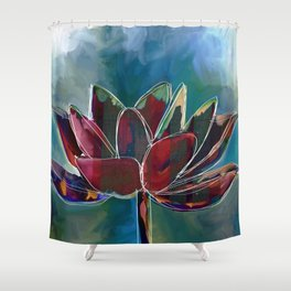 Fire Lutus Shower Curtain