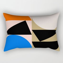 Minimalist and colorful stains II Rectangular Pillow