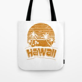 Hawaii Sunset Beach Vacation Paradise Island Orange Tote Bag