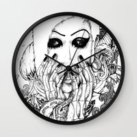 goth Wall Clocks featuring goth love by Jess John
