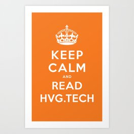 Keep calm and read HVG.tech Art Print