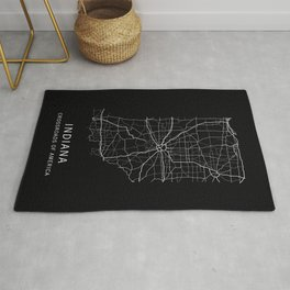 Indiana State Road Map Rug