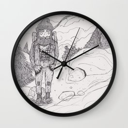 And the Mountains Sang... Wall Clock