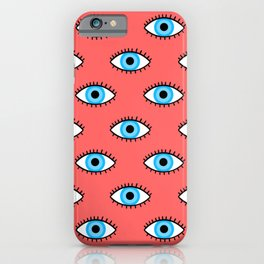 Evil Eye in Red iPhone Case