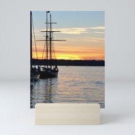 SHIPS AT SUNSET Mini Art Print