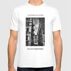 Northern Quarter MANchester Mens Fitted Tee White MEDIUM