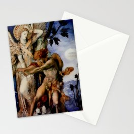 "Gustave Moreau ""Jacob and the Angel"" (1878) Stationery Cards"