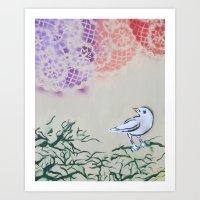 Bird Tapestry Art Print