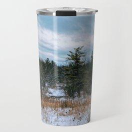 Vast field and forest Travel Mug
