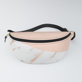 Pink Quartz and White Marble Rose Gold Fanny Pack