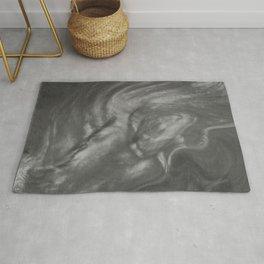 Pantone Pewter Gray Flowing Pearlescent Haze, Opalescent Fluid Art Rug