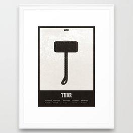 Thor - minimal poster Framed Art Print