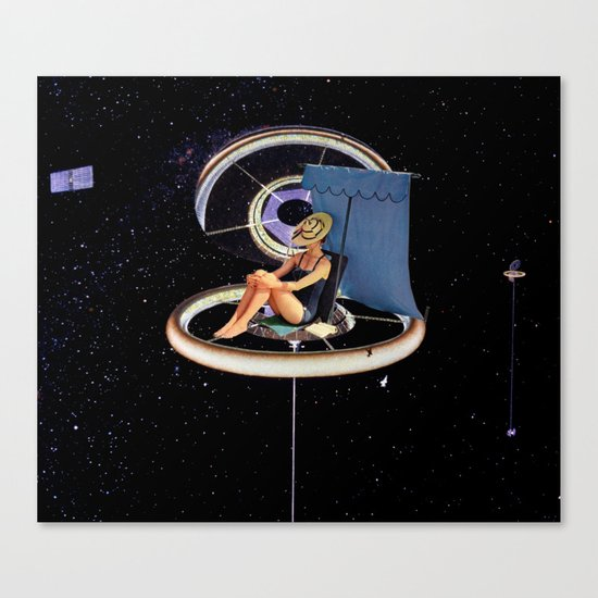 Chillin at the Space Station Canvas Print