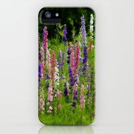 Meadow Larkspur Wildflower iPhone Case