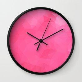 """Raspberry jam"" triangles design Wall Clock"